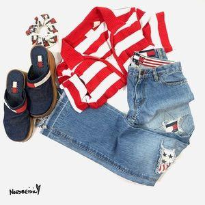Tommy Hilfiger Vintage Rare Distressed Flag Jeans